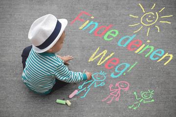 Kinderzeichnung - Finde deinen Weg!