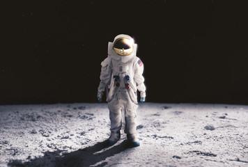 Astronaut walking on the moon Fototapete