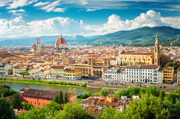 Acrylic Prints Florence Florence (Firenze) cityscape, Italy.