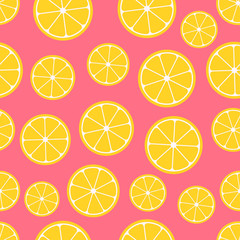 Citrus seamless pattern.
