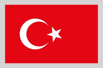 Turkish flag on a black background, stylish vector illustration