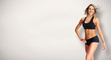 Beautiful fitness girl.