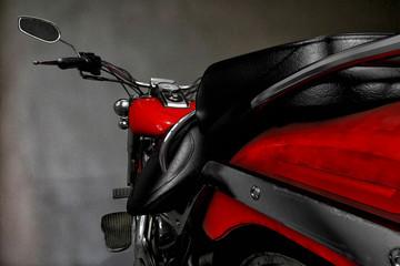 no brand custom red moto bird eye view  3d illustration 2