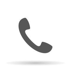Phone icon on a white background, vector illustration