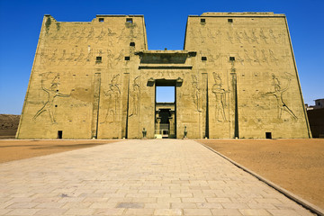 Egypt  Edfu  The Temple of Horus (also known as the Temple