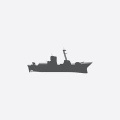 Warship icon of vector illustration for web and mobile
