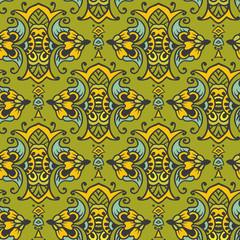 Seamless vector asian patterns. Illustration