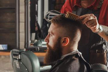 Bearded Man In Barbershop
