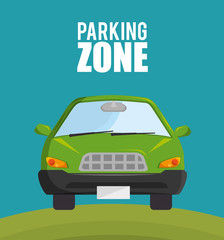 Papiers peints Cartoon voitures parking zone design