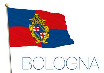 flag of bologna city, italy