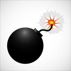 Bomb realistic icon