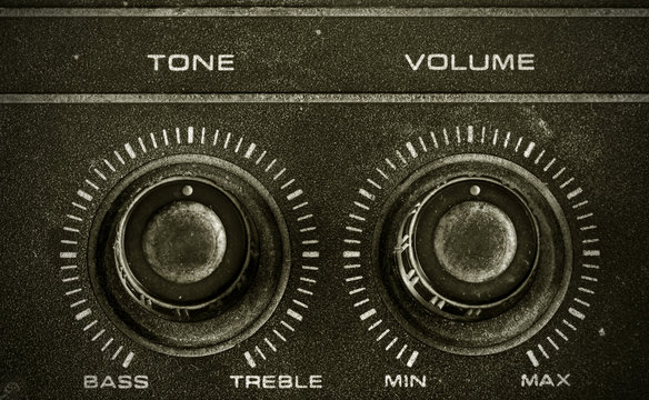 Old Tone and Volume button vintage style