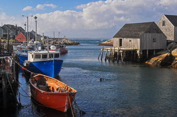 Fishing Boats in Peggy's Cove Nova Scotia