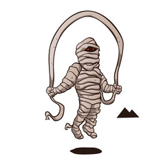 mummy jumping rope