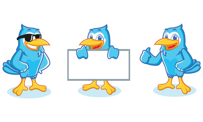 Blue Jay mascot happy