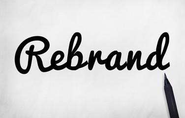 Rebrand Marketing Branding Business Concept