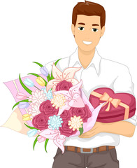 Man Bouquet Flowers Gift
