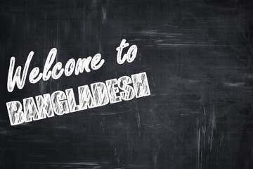Chalkboard background with chalk letters: Welcome to bangladesh