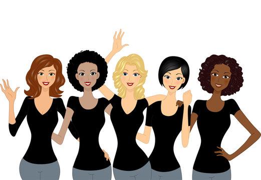 Girls Black Shirts