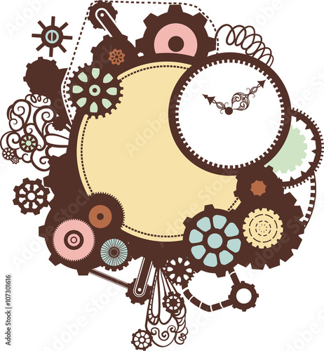 """""""Steampunk Frame"""" Stock image and royalty-free vector ..."""
