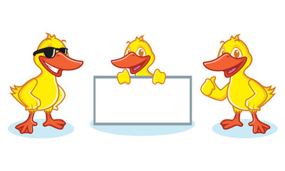 Duck Mascot Vector happy