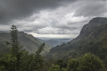 Ella amazing landscape of mountains in Sri Lanka