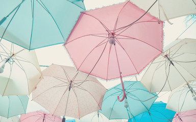 Umbrella pattern pastel