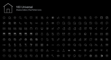 Universal Pixel Perfect Icons (line style) Shadow Edition