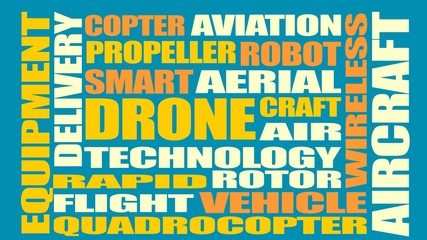 Drone relative word cloud