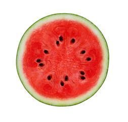A half of Watermelon isolated on white background.