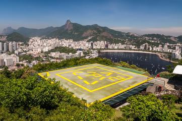Helipad on Urca Mountain in Rio de Janeiro