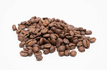 Coffee Bean isolated on white background.