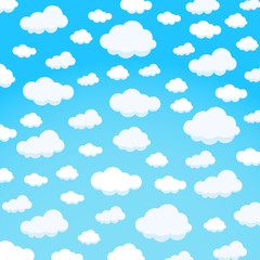 Fototapeta clouds design over sky background vector illustration obraz