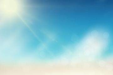 Summer sun with bokeh lights