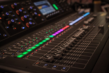 Mixer of a team that is responsible for controlling the audio system.