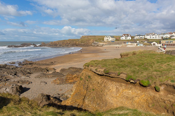 Fototapete - Crooklets beach Bude North Cornwall England UK a short walk from the Cornish town