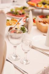 Fototapeta food at a wedding party