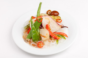 octopus with vegetables