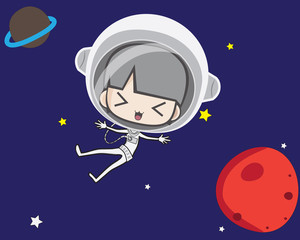 cute astronout,