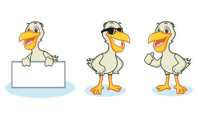 Pelican Mascot Vector happy