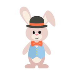bunny in hat