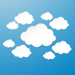 Vector cloud design element with place for your text