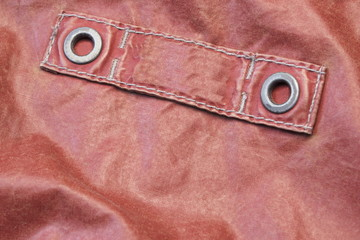 Red Modern Leather Jacket Fragment With Empty Label