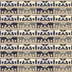 Seamless decorative vector background with goats. Print. Cloth design, wallpaper.