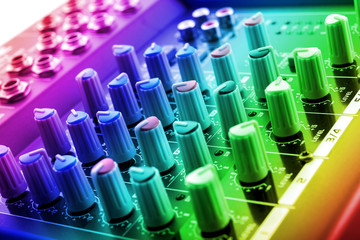 dj mixing console