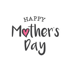 Happy mothers day card. Editable logo vector design.