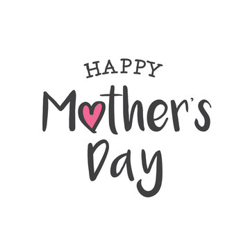 Happy mothers day card. Editable logo vector design.