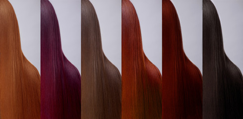 Hair collection Colors Set. Tints
