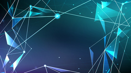 Abstract digital background, Futuristic style of the future technology