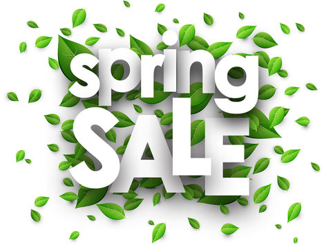 Spring sale paper background.